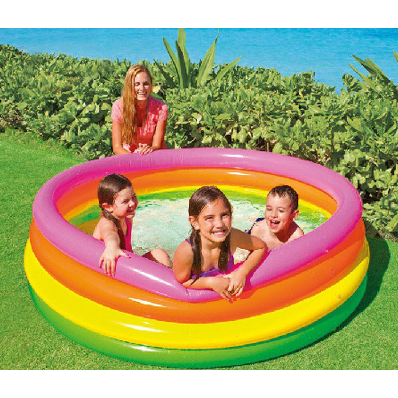child inflatabl kids pool baby swimming pool children inflatable bottom summer water play B31005 dual slide portable baby swimming pool pvc inflatable pool babies child eco friendly piscina transparent infant swimming pools