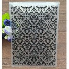 Цветы пластиковые папки для тиснения для DIY скрапбукинга бумаги ремесла/открыток украшения поставки