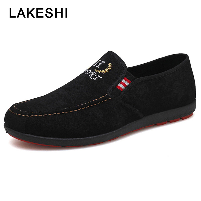 Male Shoes Sneakers Loafers Spring Suede Fashion Breathable Men's Outdoor