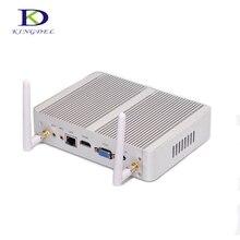 Новые небольшого размера Intel Dual Core i3 4005U безвентиляторный мини настольных ПК HDMI VGA 1000 м LAN 4 * USB3.0 Windows 10 HTPC