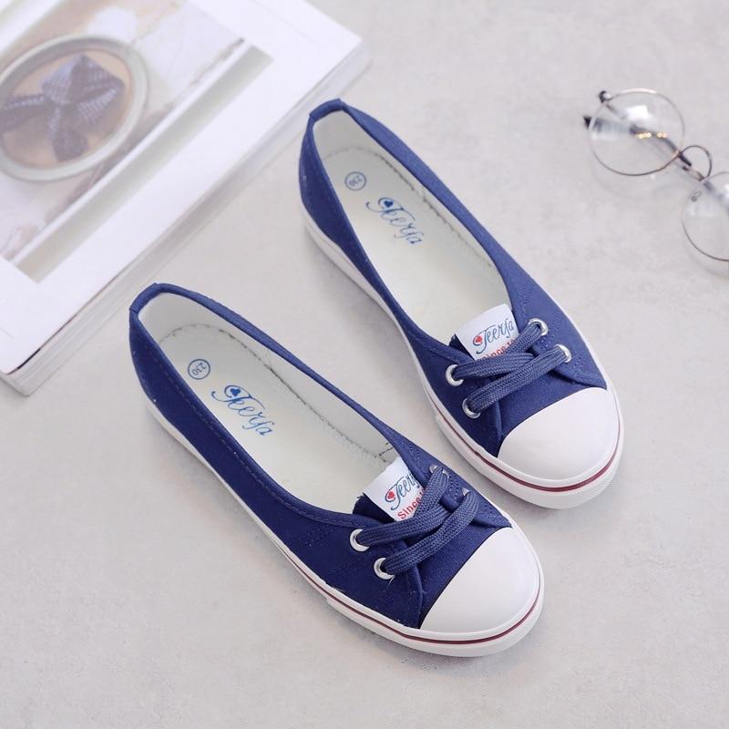 Women shoes canvas shoes comfortable shoes slip-on Korean tide students set foot  flat shoes