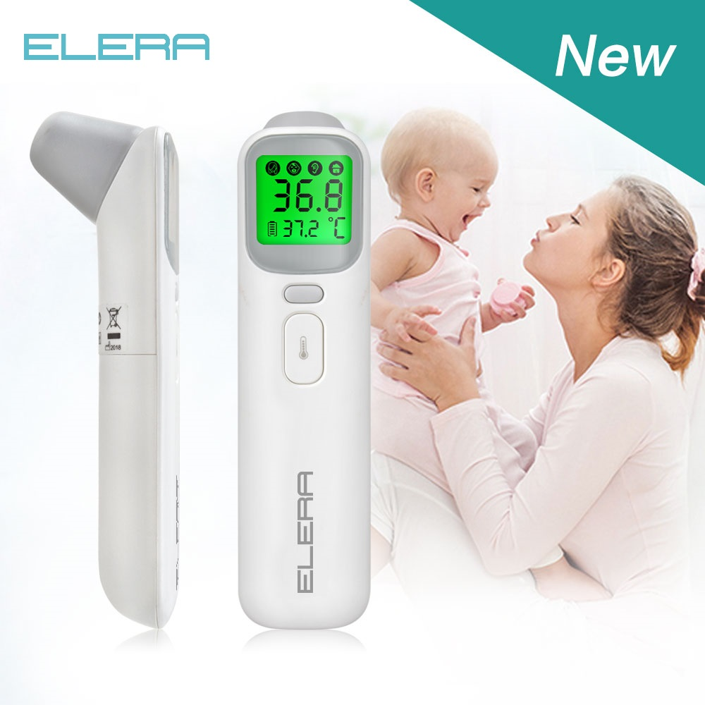 ELERA Baby Digital Thermometer Forehead Ear Non-Contact Body Termometro Infrared LCD Adult Body Fever IR Children Termometer