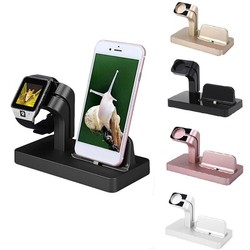Uniwersalny uchwyt na telefon komórkowy 2 w 1 inteligentny stojak na zegarek uchwyt do ładowania iphone'a stacja dokująca do telefonu samsung huawei xiaomi