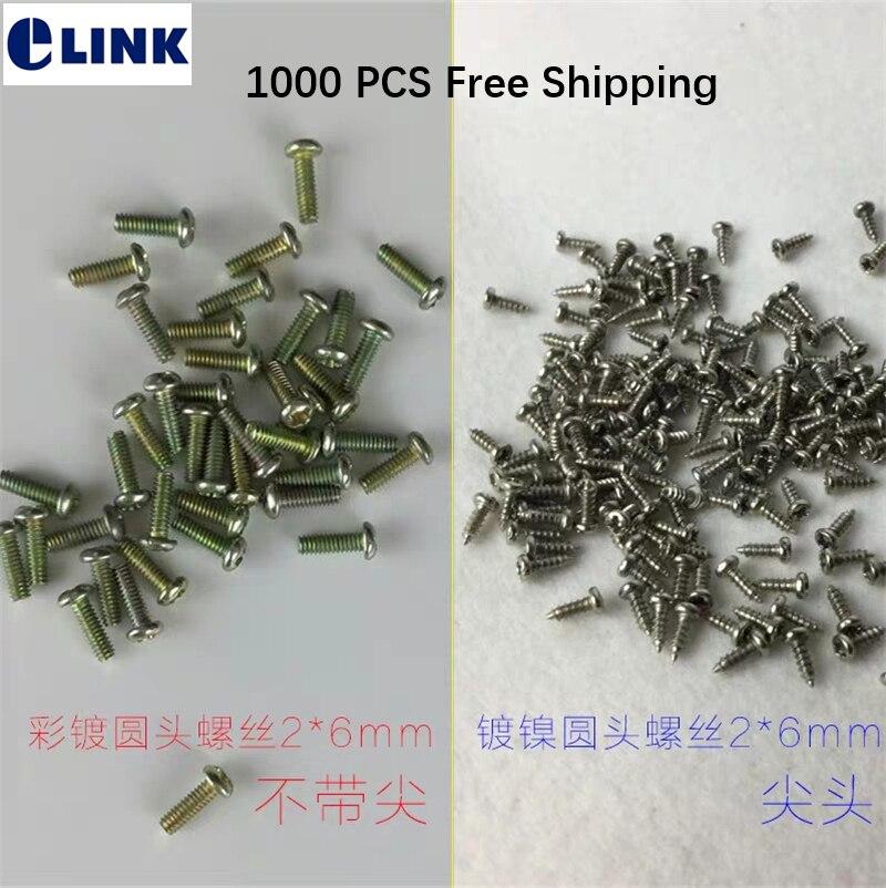 1000 PCS M2 6 screw to fix fiber optic adapter flange on optical terminal box fixed