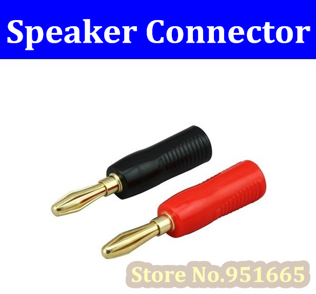 50Pcs High Quality Gold Speaker Wire Cable Connector 4mm Banana ...