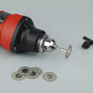 Image 4 - 10 pz 22mm utensili diamantati accessori Dremel Utensile Rotante set rotella di diamante di taglio a disco mola del diamante per il vetro