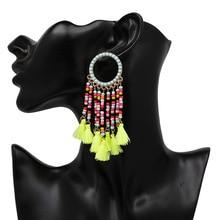 Popular Bohemian national wind earrings hanging ear tassel earrings m pearl earrings earrings m by maiocci earrings