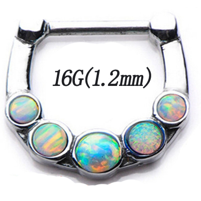 BOG316L Surgical Steel Opal...