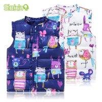 Sweet Floral Children S Girls Jackets Cotton Warm Kids Vest For Girl Waistcoat Children Outerwear For