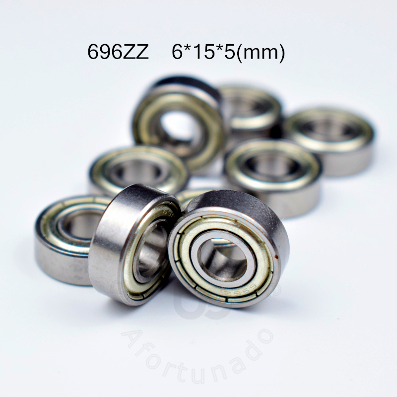 696ZZ 6*15*5(mm) 10pieces Bearing Free Shipping ABEC-5 Bearings 10pcs Metal Sealed Bearing 696 696Z 696ZZ Chrome Steel Bearing