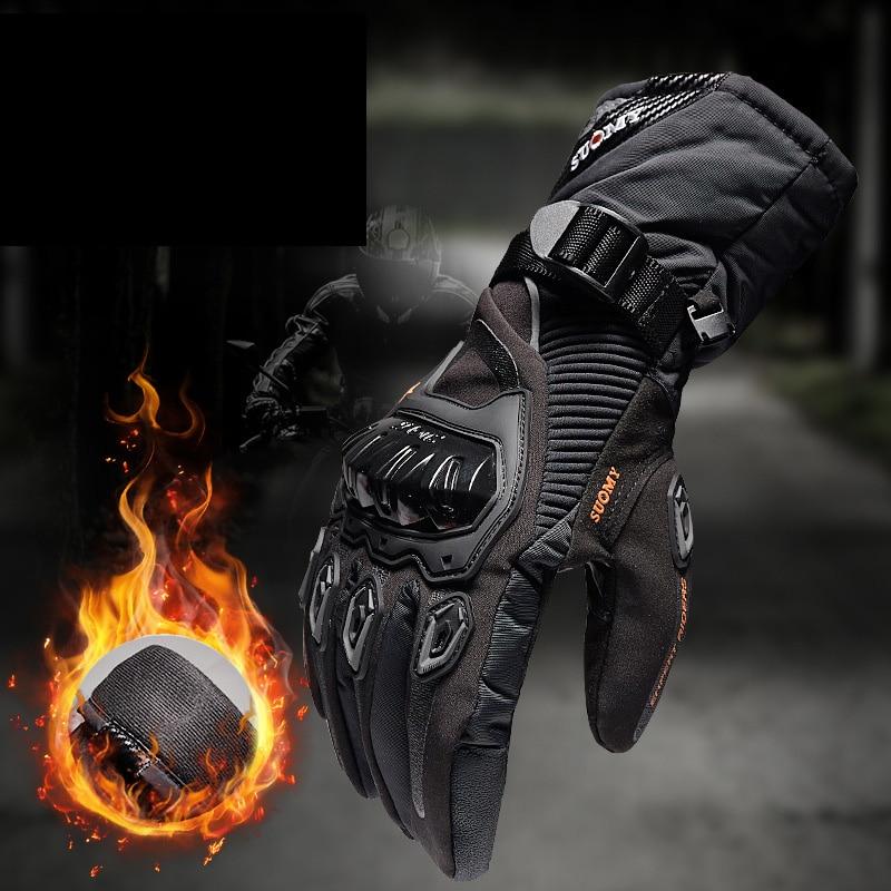 Мужские мотоциклетные перчатки SUOMY 100%, водонепроницаемые ветрозащитные зимние мотоциклетные перчатки, перчатки для сенсорного экрана, Мот...