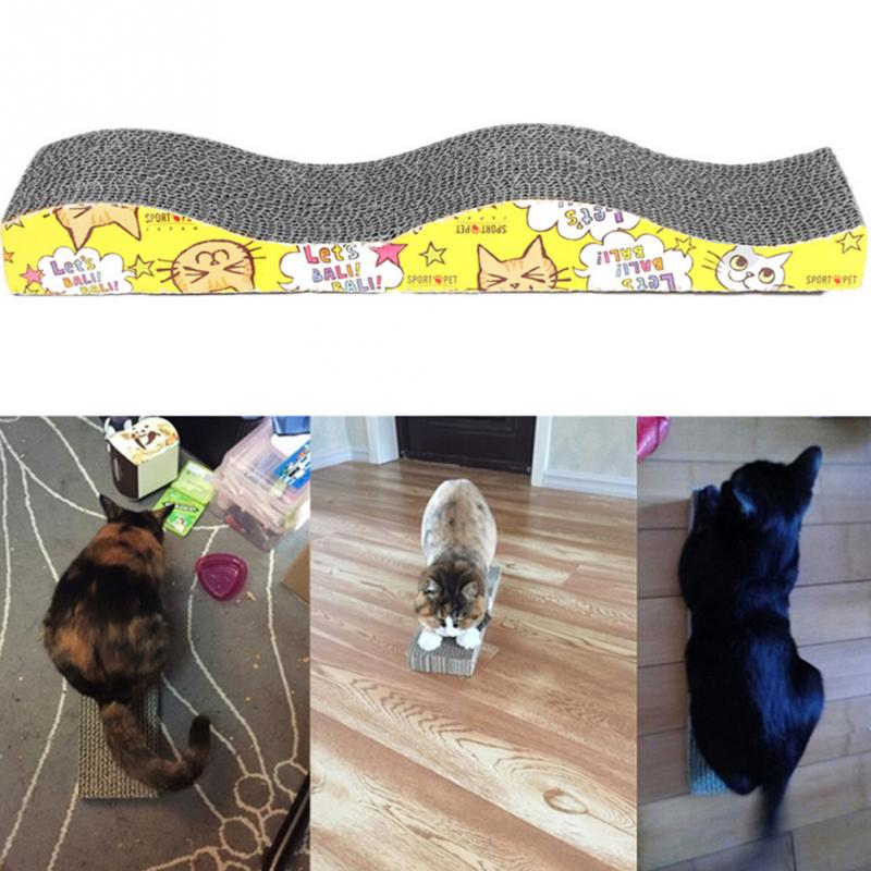 S-shaped Cat Kitten Corrugated Scratch Board Pad Scratcher Bed Mat Claws Care Juguetes Para Gatos Brinquedos #3