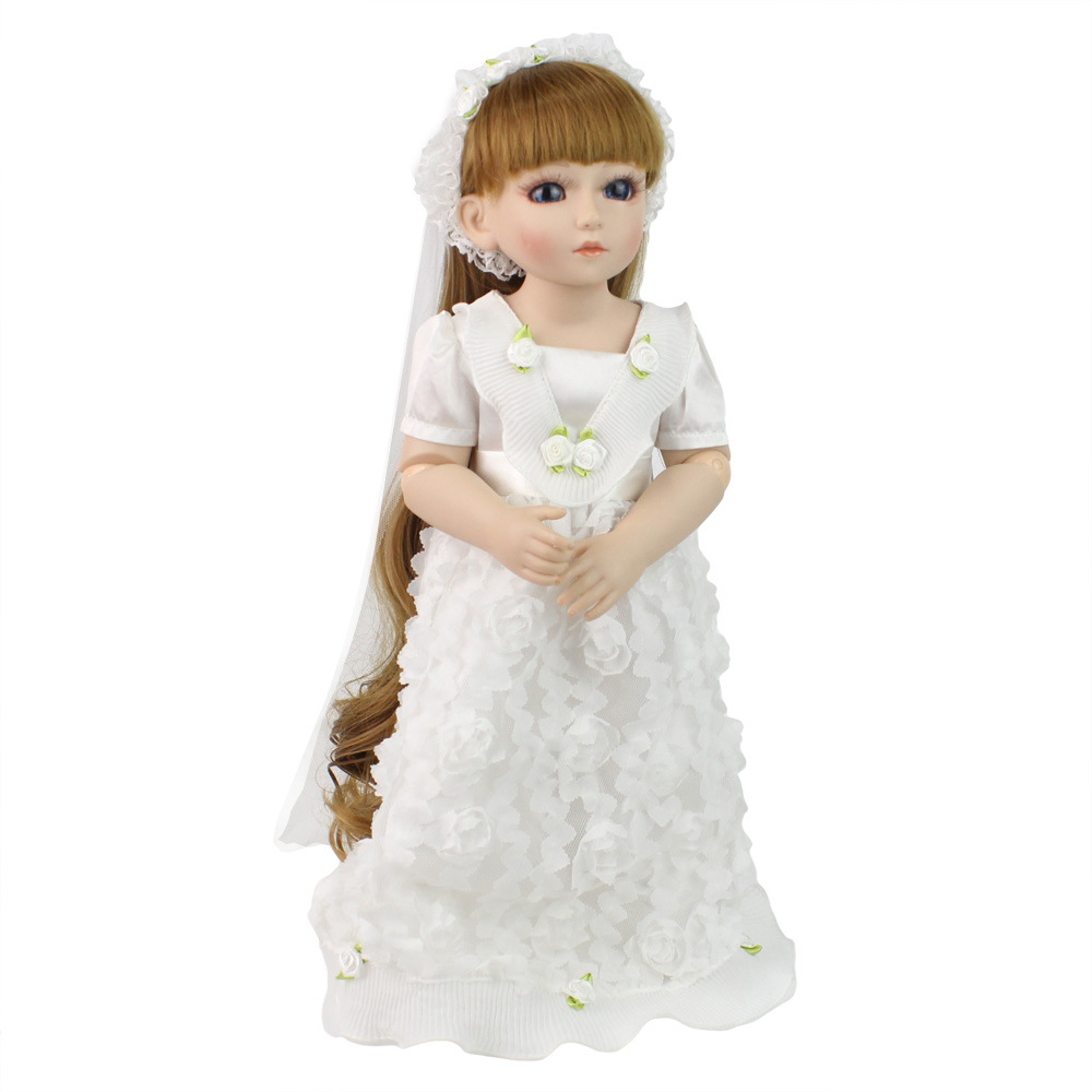 silicone baby doll Full Vinyl Body BJD Lifelike 18inch Babies Dolls standing 45cm Girl Birthday Gifts For childrens Day toy SD