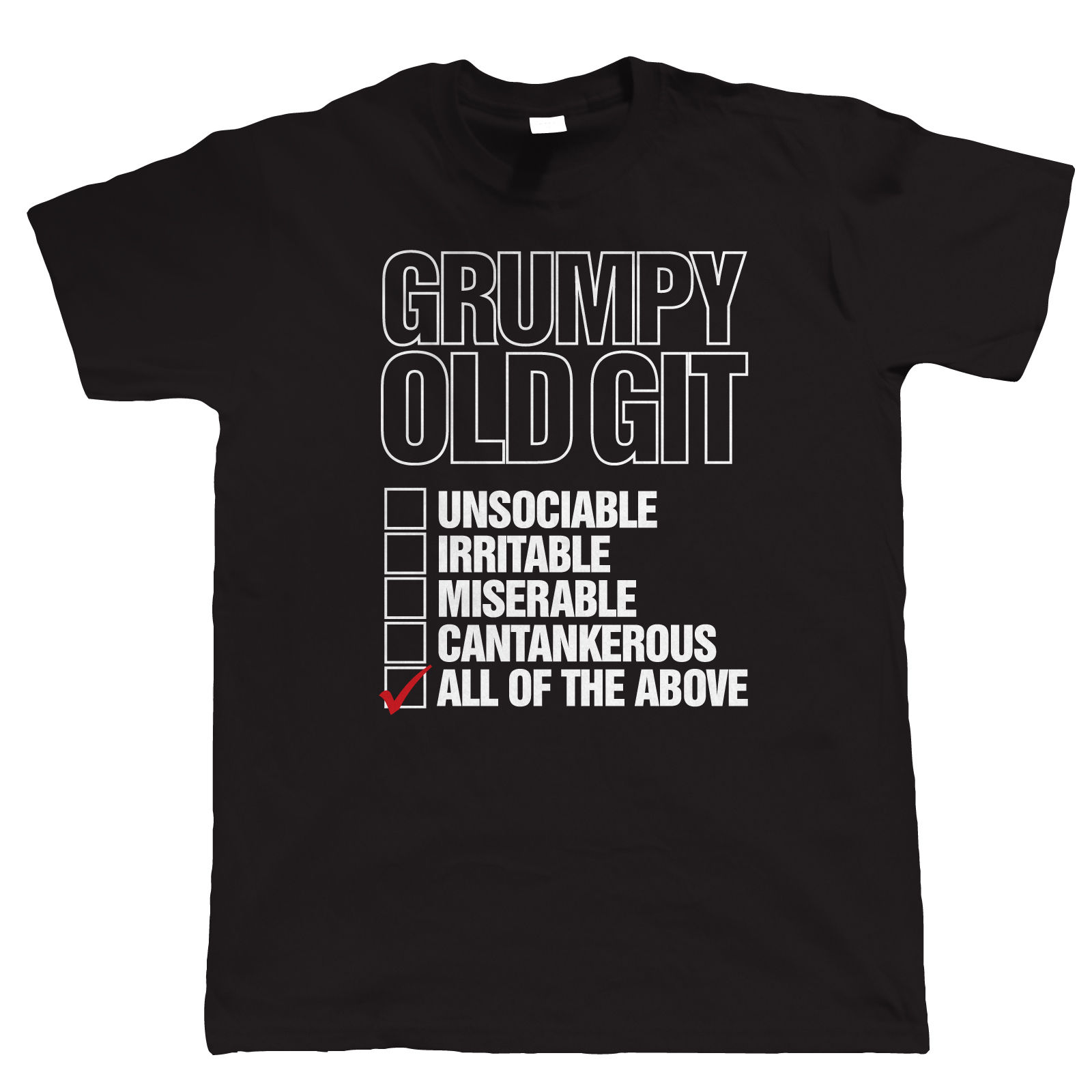 Git grumpy old man checklist, t-shirt funny man