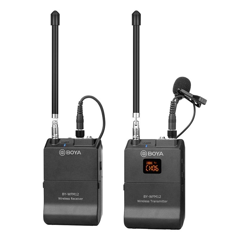 BOYA Wireless Microphone WFM12 MIC condenser microfono condensador Wireless Matched for Camera Video Sudio for Youtube Recording