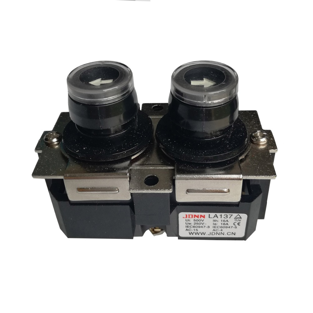 цена на LA137 16A Up Down Waterproof NO Push Button Switch Micro-electric Control Pushbutton Switches for Crane Electric Hoist 220V 380V