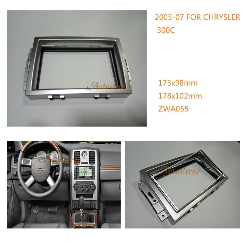 Chrysler 300 300c 2006 2d Small Dash Kit: 2 DIN Car Radio Fascia Installation Facia Trim Dash Kit