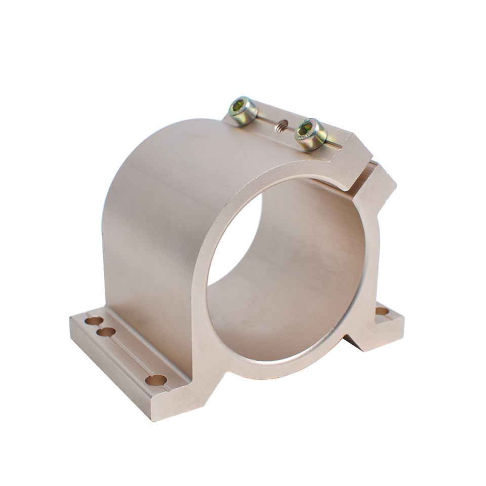 New arrived Gold Type 80 MM Fixture Clamping Bracket Spindle Motor Clamp For CNC Engraving Machine Spindle Motor Power ToolsNew arrived Gold Type 80 MM Fixture Clamping Bracket Spindle Motor Clamp For CNC Engraving Machine Spindle Motor Power Tools