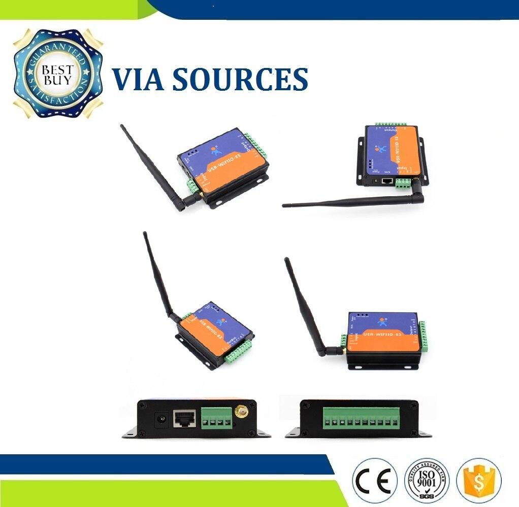 USR-WIFIIO-83 Original Factory Free Shipping 2Pcs/Lot 8 Output Wifi Remote Control Relay DC USR Channel Wifi Relay Board Device