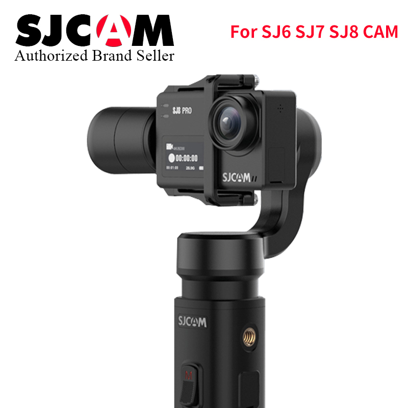 Update 2018 SJCAM Accessories SJCAM SJ8 Series SJ 7 STAR SJ6 legend Handheld 3-Axis Gimbal 2 Stabilizer for sj SJ8 pro yi 4k cam update sjcam handheld gimbal sj gimbal 2 3 axis stabilizer bluetooth control for sjcam sj8 series sj7 star sj6 sj8 pro yi 4k cam