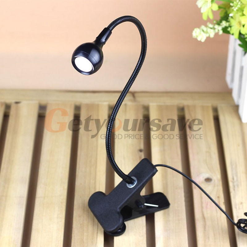 LED Desk Lamp Clip On USB Flexible Reading Light Table Lamp Study Bedside Light