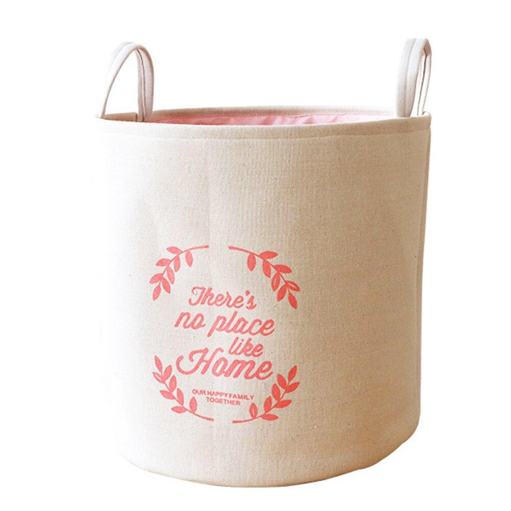 Square Large Sundries Hamper Cotton Linen Multipurpose Storage Foldable Thickened Organizer Washable Laundry Basket Nordic Style(China)