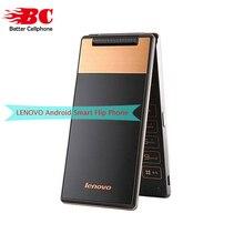 Новый оригинальный Lenovo A588T старший сотовый телефон Android 4.4 MTK6582 4 ядра 512 МБ Оперативная память 4 г Встроенная память 5MP Камера 360 градусов старый Раскладной телефон