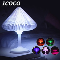 ICOCO Creative Mutli color USB Charging Changeable LED Night Light Desk Lamp for Bed Beside Home Decor Christmas Birthday Gift
