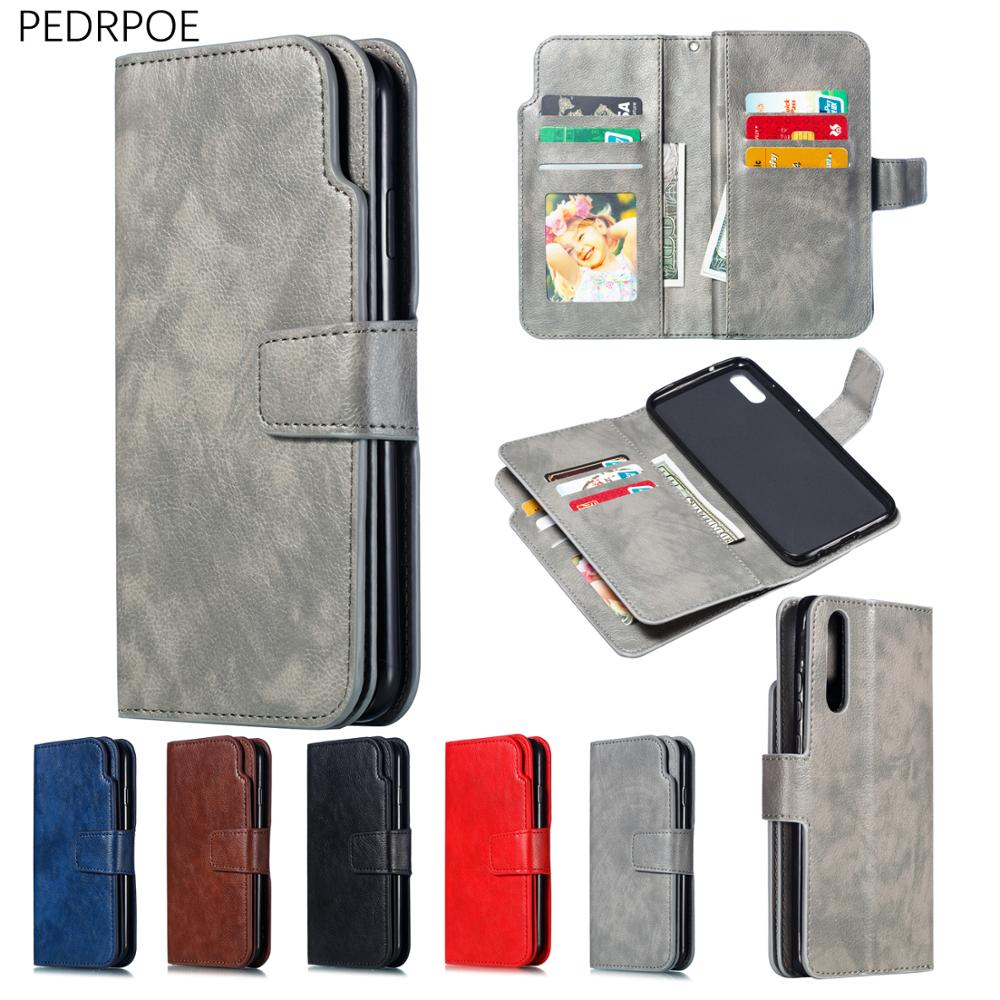 Leather <font><b>Flip</b></font> <font><b>Case</b></font> For Huawei <font><b>Mate</b></font> 10 <font><b>20</b></font> P9 P10 P20 P30 <font><b>Lite</b></font> 10 <font><b>20</b></font> P20 P30 Pro P8 <font><b>Lite</b></font> 2017 <font><b>Case</b></font> For Y6 Y7 Y9 Pro 2019 Honor 8A image