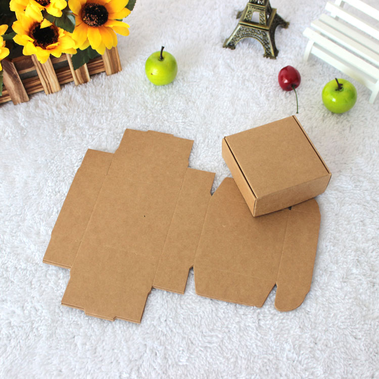 8.5*6*3cm Mini Brown Kraft Paper Snack Box Handmade Soap Business Card Gift Wedding Party Boutique Cosmetic Package Packing Box