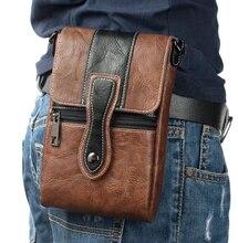 Holster Man Shoulder Belt Clip Mobile Phone Leather Case For Galaxy J7 Prime/On7 (2016)/S7 active/C7/A9 Pro (2016)/J7 (2016)