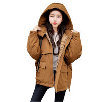 Winter Short Jacket Women Coats Hooded Warm Female Parka Thicken Cotton Padded Jacket Outerwear Winter Coat Ladies Parkas Q695