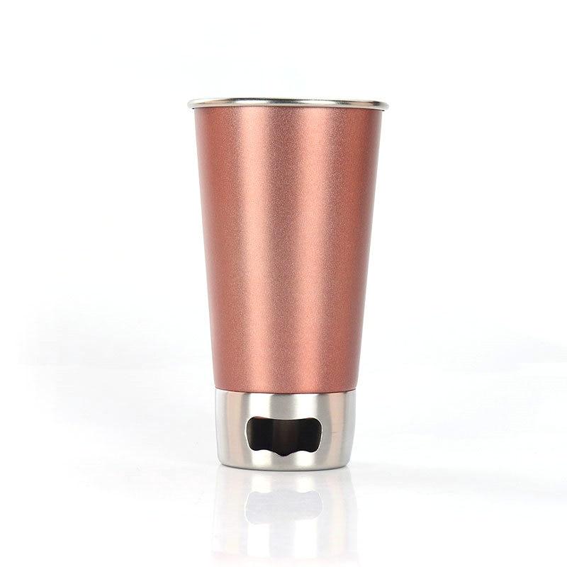 500 ML Edelstahl Tasse Tumbler Pint Glas Metall Tasse for Haus Office mit!