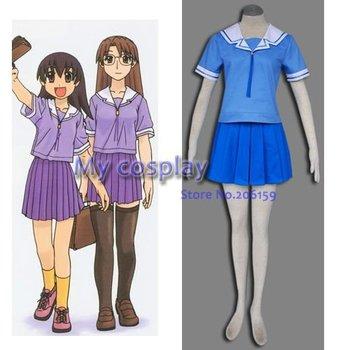 Uniformes escolares de verano para niñas Azumanga Daioh, disfraz Cosplay, Disfraces de...