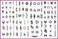 Template tattoo golden phoenix NO.08 airbrush tattoo stencils 100pcs Totem theme picture