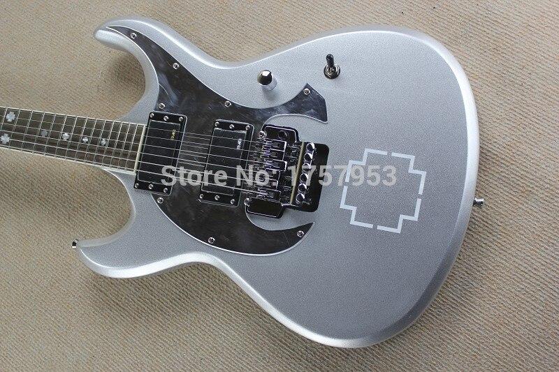 Free Shipping Factory Custom Shop 2017 new E S P RZK-600 Silver Gray Electric Guitar 1 15