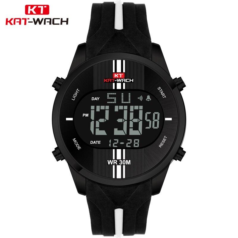 KAT-WACH Fashion Brand Watches Men Sports Watches Waterproof LED Digital Quartz Men Military Wrist Watch Clock Relogio Masculino