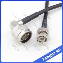 Gorąca sprzedaż Tanger N wtyk męski pod kątem prostym do BNC wtyk męski RF RG58 Pigtail Jumper kabel koncentryczny 20 cal 50 cm wysokiej jakości w Złącza od Lampy i oświetlenie na