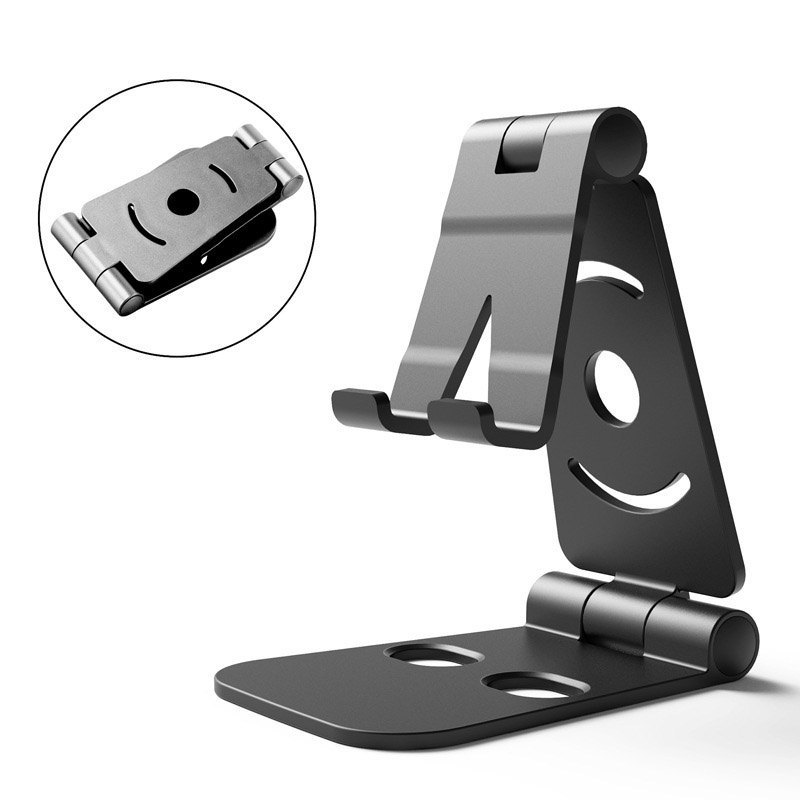 Foldable Swivel Phone Stand Desk Holder Cradle For Small Big Smartphones