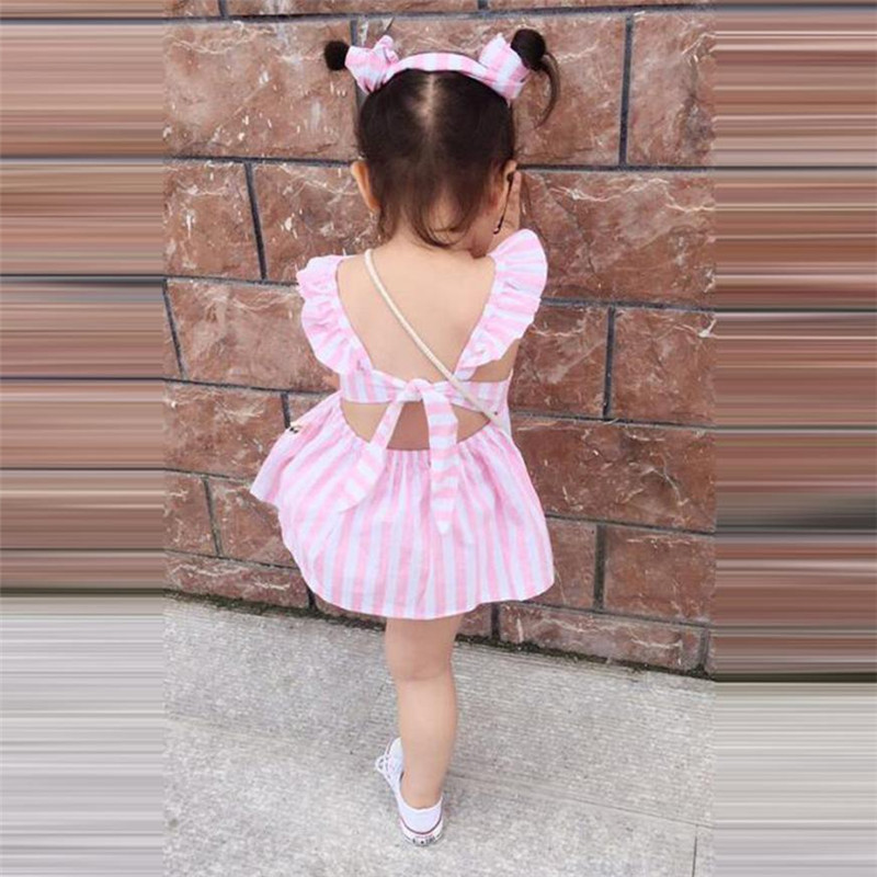 Infant Clothes Summer for girls Baby Clothing Striped Straps Dress Shorts Pants + Headband Outfits Set 2pcs Ropa mujer