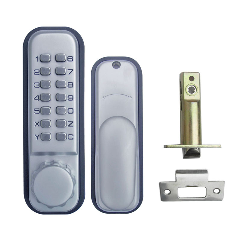 Mechanical Code Door Lock Digital Machinery Keypad Password Entry lock Stainless Steel Latch Zinc Alloy Silver L&S L17011  цена и фото