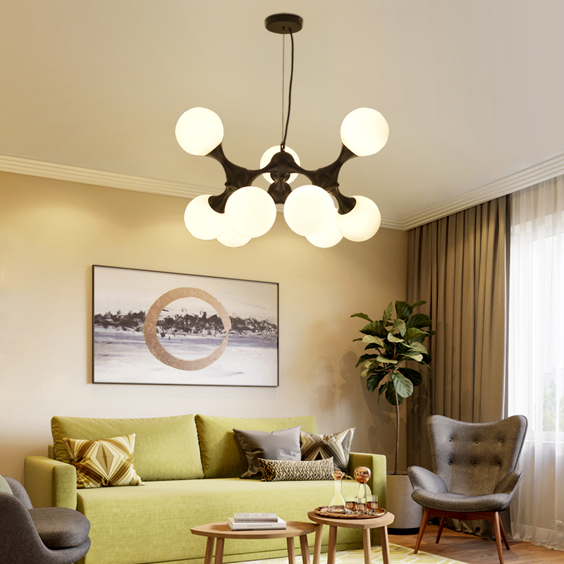 New Modern Nordic Lustre DNA Glass Ball Pendant Lights Home Lighting ...