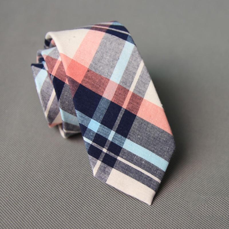 mens designer ties rl34  New Fashion Navy Striped Men Skinny Ties Corbatas Business Plaid Neck Ties  for Vestidos Party Cotton