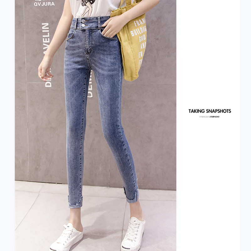 JUJULAND 2019 Jeans Female Denim Pants 3 Color Womens Jeans Donna Stretch Bottoms Skinny Pants For Women Trousers 1836