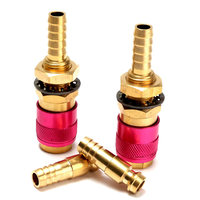 2 Sets Water Cooled Gas Adapter Quick Connector Fitting For TIG Welding Torch M8 Connectors
