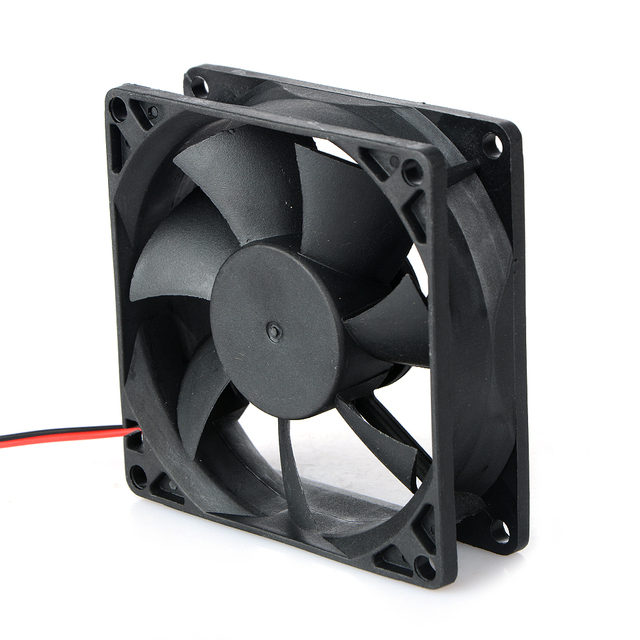 1 Pcs 2 Pin DC 24V 80x80x25mm 8025 Dual Ball Motor Cooling Fan 80mm x 25mm PC Case CPU Brushless Cooler 8cm Fans & Cooling