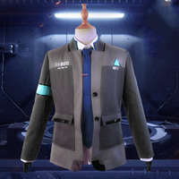 Game Detroit: Become Human Connor RK800 Agent Uniform Suits Cosplay Costume Jackets Coats Ties