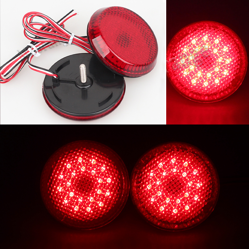 12V Car LED Rear Bumper Reflector Tail Brake Light Parking Warning Bumper Lamp For Nissan Qashqai Trail Toyota Corolla 2007-2010 led rear bumper warning lights car brake lamp cob running light led turn light for honda civic 2016 one pair