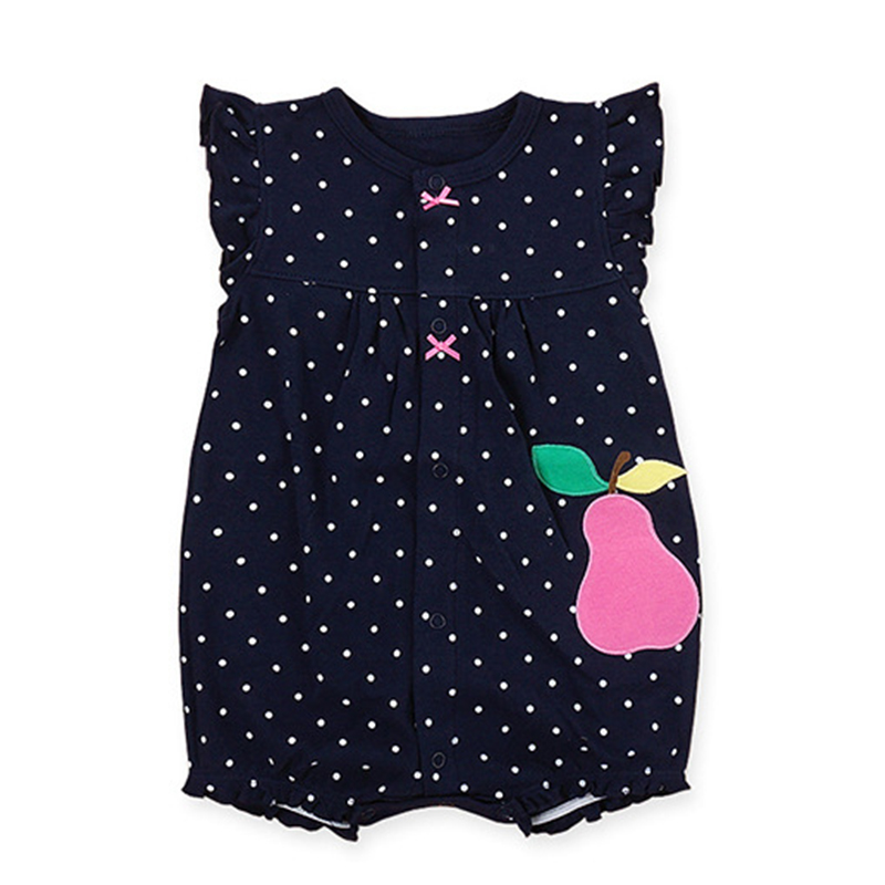 Brand Baby Girls Rompers Cartoon Animal Short Sleeve Infant Jumpsuits Summer Cotton Toddler Boys Romper Unisex Newborn Clothes baby rompers newborn clothes baby clothing set boys girls brand new 100%cotton jumpsuits short sleeve overalls coveralls bebe