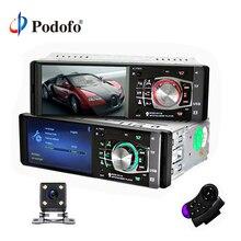 """Podofo 1 Din Car radio Auto 4.1 """"HD Lettore Multimediale Dell'automobile di trasporto MP3 MP5 Audio Stereo Radio Bluetooth FM A Distanza controllo Video Player"""